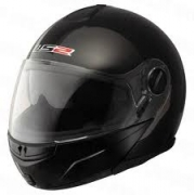 LS2 Ride Gloss Black Modular Flip Front Crash Helmet