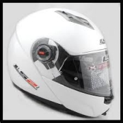 LS2 Ride Gloss White Modular Flip Front Crash Helmet